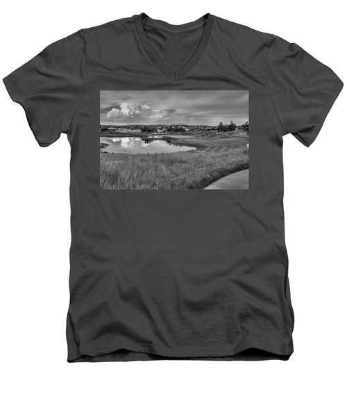 Men's V-Neck T-Shirt featuring the photograph Ravenna Golf Course by Ron White