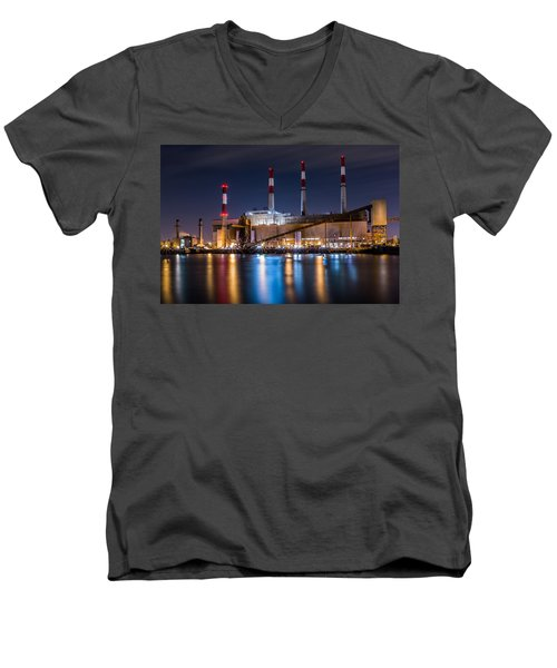Ravenswood Generating Station Men's V-Neck T-Shirt