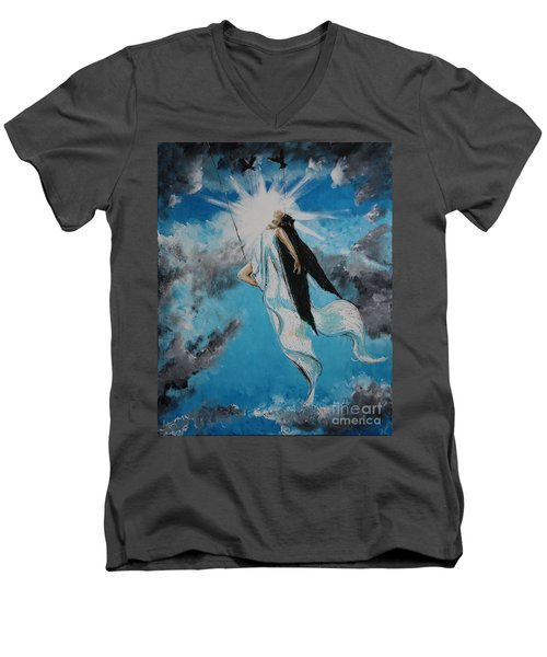 Ravesencion Men's V-Neck T-Shirt