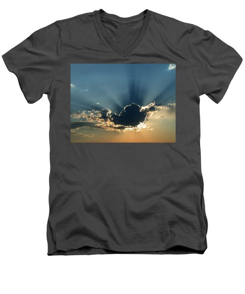 Men's V-Neck T-Shirt featuring the photograph Rays Of Light by Shane Bechler