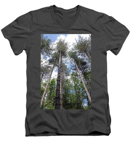 Reach For The Sky Men's V-Neck T-Shirt by Tony Murtagh