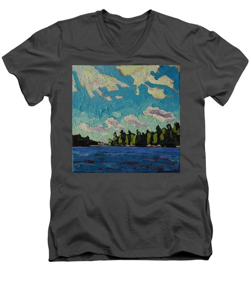 Reach To Grippen Men's V-Neck T-Shirt by Phil Chadwick