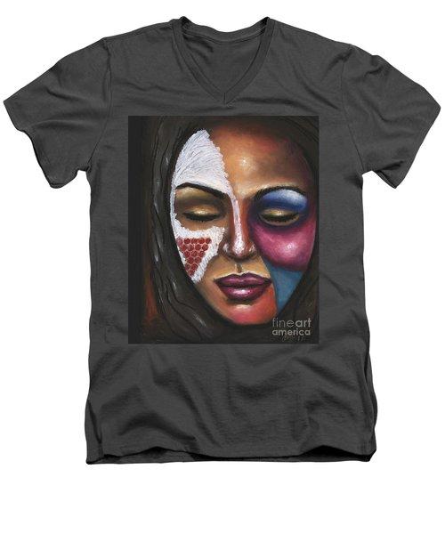 Reaching Deep Within Men's V-Neck T-Shirt