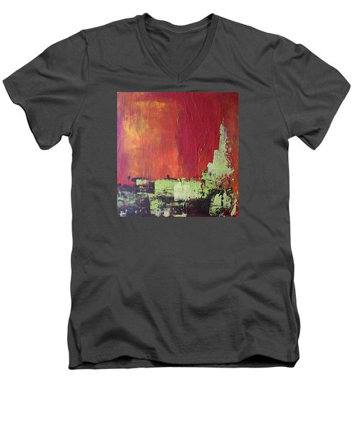 Reaching Up, Abstract  Men's V-Neck T-Shirt