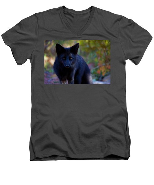 Men's V-Neck T-Shirt featuring the photograph Reading The Menu by Jim Garrison