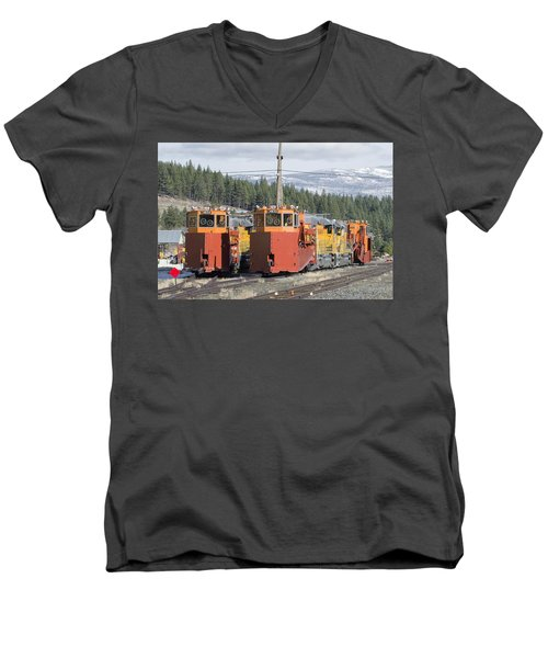 Ready For More Snow At Donner Pass Men's V-Neck T-Shirt