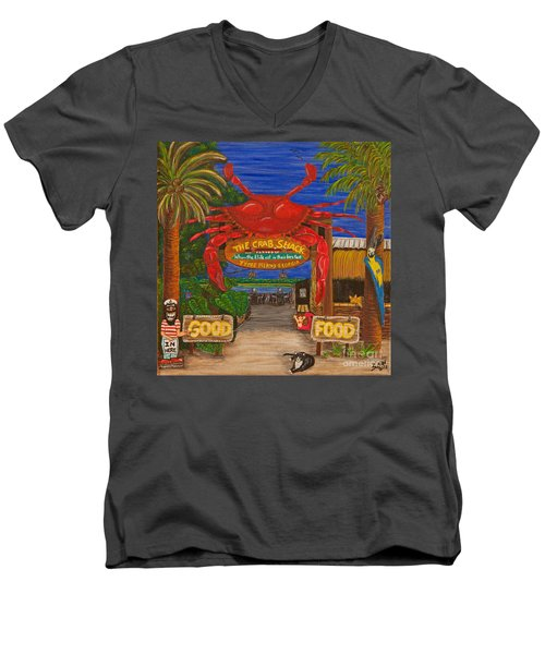 Ready For The Day At The Crab Shack Men's V-Neck T-Shirt