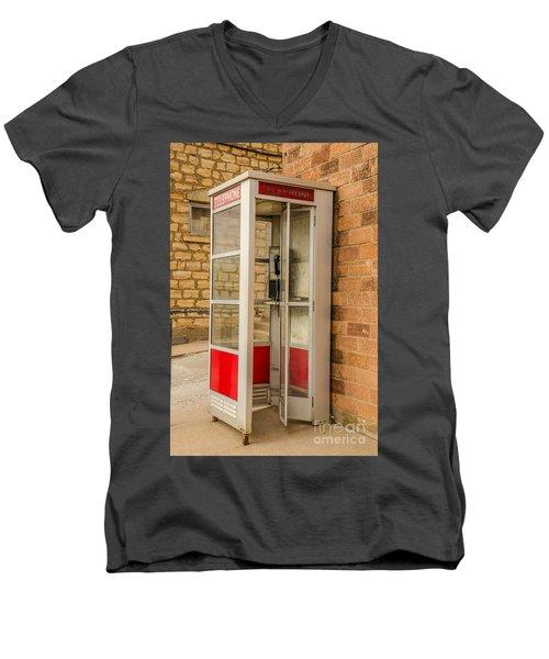 Before Cell Phones Men's V-Neck T-Shirt