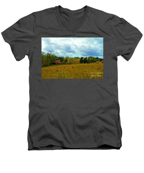 Red Barn Six Men's V-Neck T-Shirt