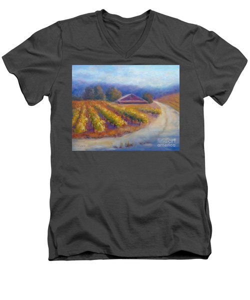 Red Barn Vineyard Men's V-Neck T-Shirt