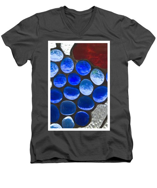 Red Blue Men's V-Neck T-Shirt
