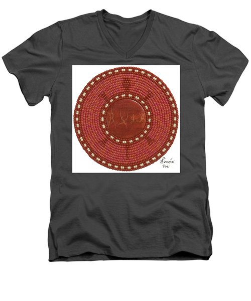 Red Coral Men's V-Neck T-Shirt