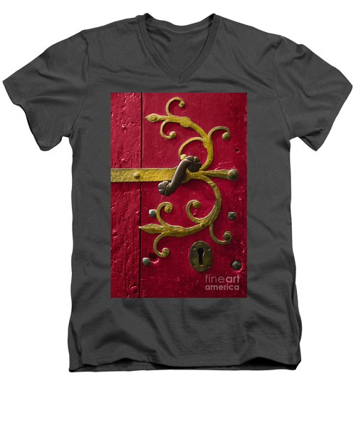 Red Entrance Men's V-Neck T-Shirt