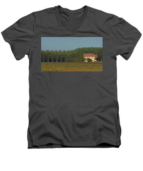 Red French Cottage Men's V-Neck T-Shirt