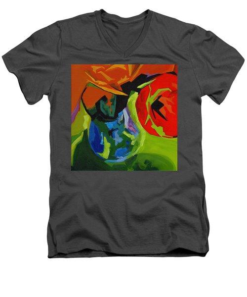 Red Tulip Men's V-Neck T-Shirt