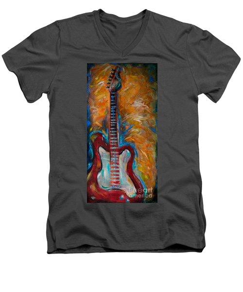 Red Guitar Men's V-Neck T-Shirt