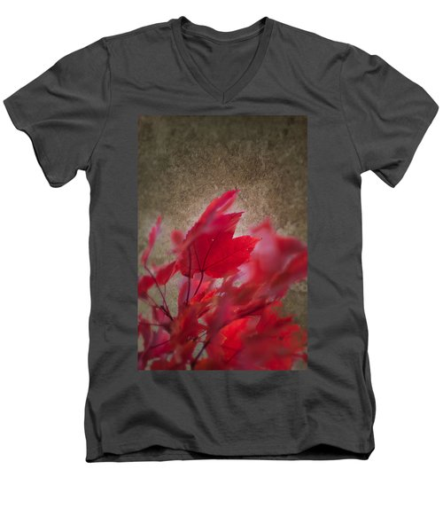 Red Maple Dreams Men's V-Neck T-Shirt