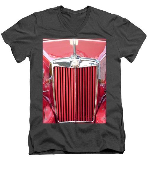 Red Mg Men's V-Neck T-Shirt