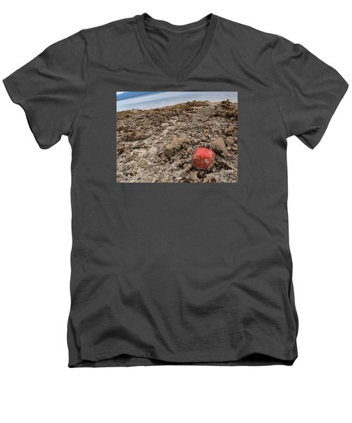 Red Out Of Place Men's V-Neck T-Shirt