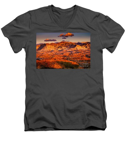 Men's V-Neck T-Shirt featuring the photograph Red Planet by Mark Myhaver