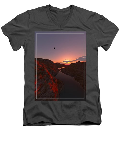 Red River... Men's V-Neck T-Shirt