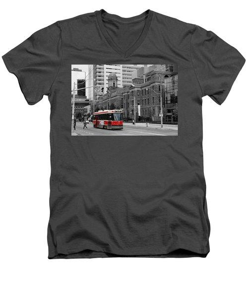 Red Rocket 36c Men's V-Neck T-Shirt
