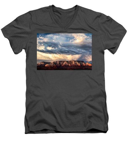 Red Rocks Of Sedona Men's V-Neck T-Shirt
