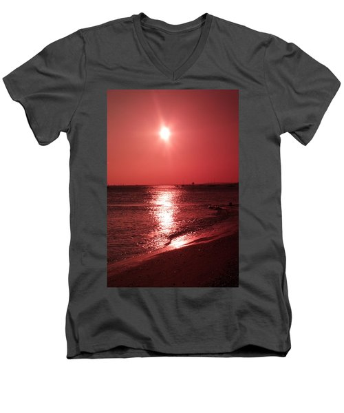 Red Sunset Men's V-Neck T-Shirt