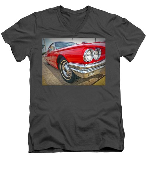 Red Thunderbird Men's V-Neck T-Shirt