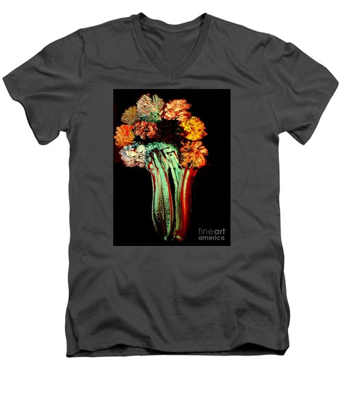 Red Vase Revisited Men's V-Neck T-Shirt by Bill OConnor