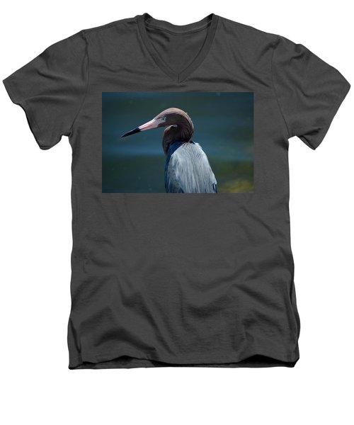 Reddish Egret 3 Men's V-Neck T-Shirt