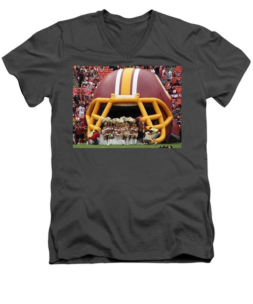 Redskins Cheerleaders Men's V-Neck T-Shirt