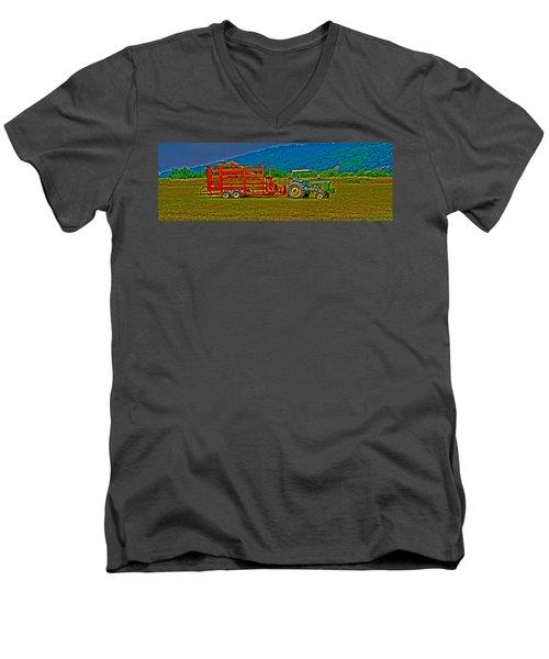Redwood Ca Men's V-Neck T-Shirt by Richard J Cassato