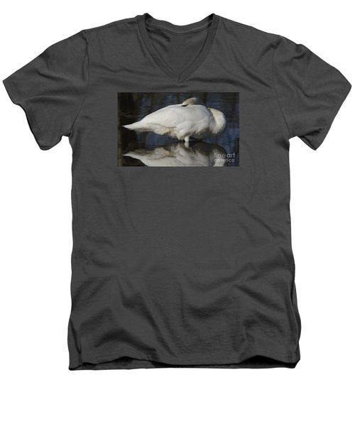 Reflect Men's V-Neck T-Shirt by Randy Bodkins