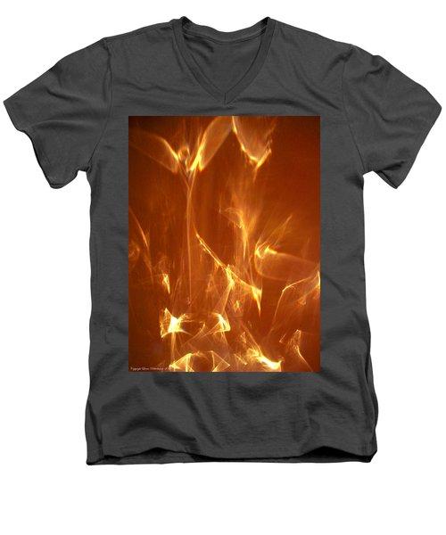 Reflected Angel Men's V-Neck T-Shirt by Leena Pekkalainen