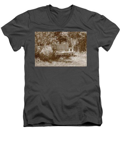 Reflecting Bench Men's V-Neck T-Shirt