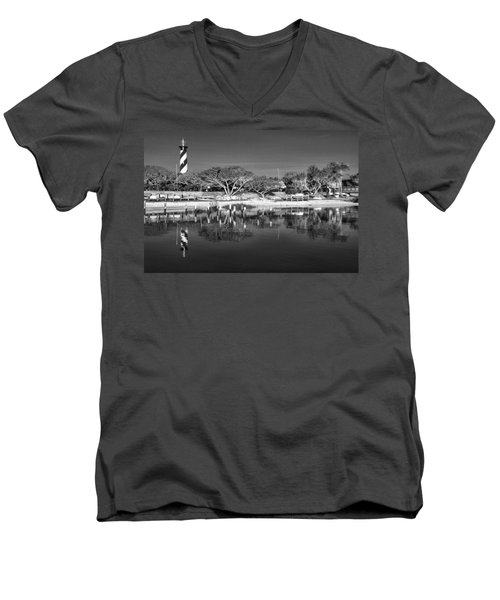 Reflecting Lighthouse  Men's V-Neck T-Shirt