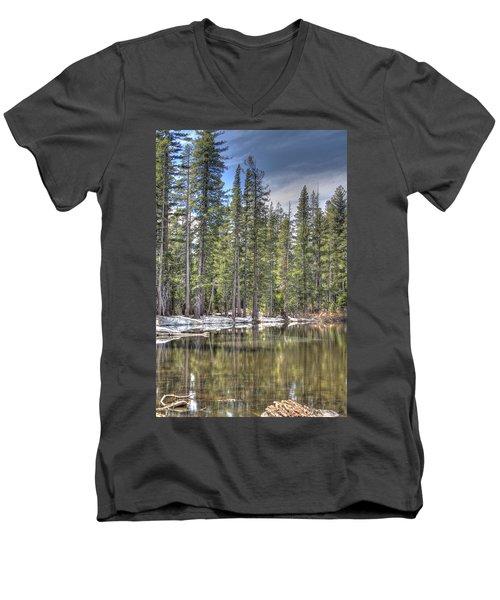 reflecting pond 4 Carson Spur Men's V-Neck T-Shirt