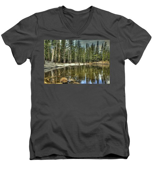 reflecting pond Carson Spur Men's V-Neck T-Shirt