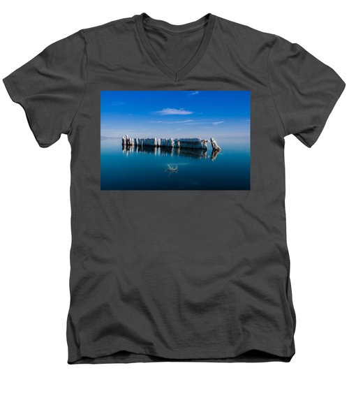 Reflection At Salton Sea Men's V-Neck T-Shirt