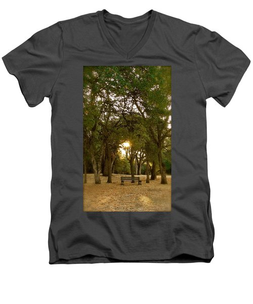 Reflection At Sunrise Men's V-Neck T-Shirt