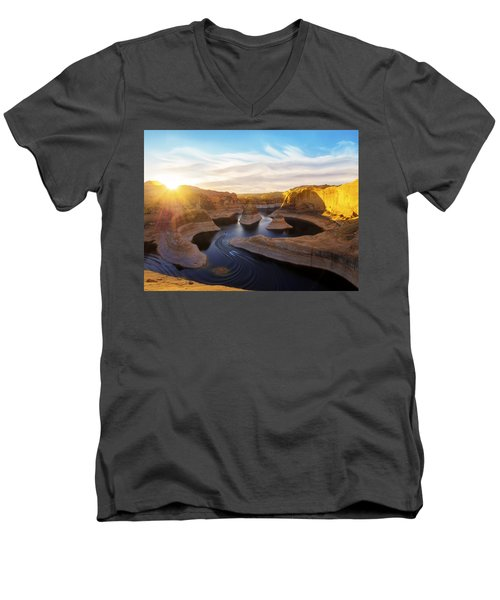 Reflection Canyon Men's V-Neck T-Shirt