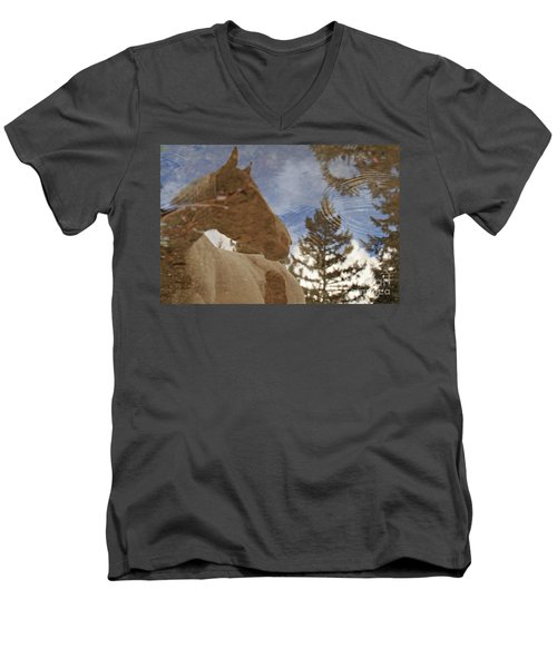 Upon Reflection Men's V-Neck T-Shirt by Michelle Twohig
