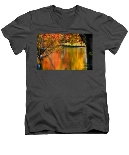 Reflection  Of My Thoughts  Autumn  Reflections Men's V-Neck T-Shirt