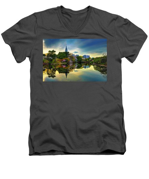 Reflection Of Spring Men's V-Neck T-Shirt