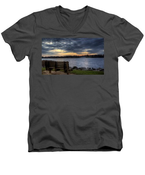 Reflection Time Men's V-Neck T-Shirt