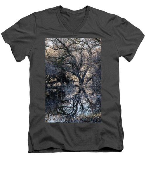 Men's V-Neck T-Shirt featuring the photograph Reflections by Brian Williamson