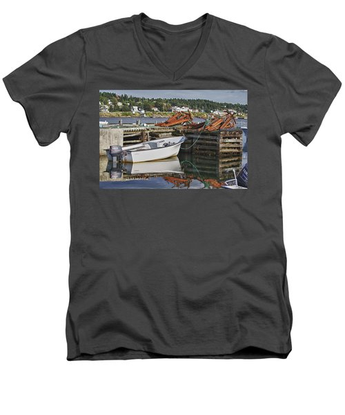 Men's V-Neck T-Shirt featuring the photograph Reflections by Eunice Gibb