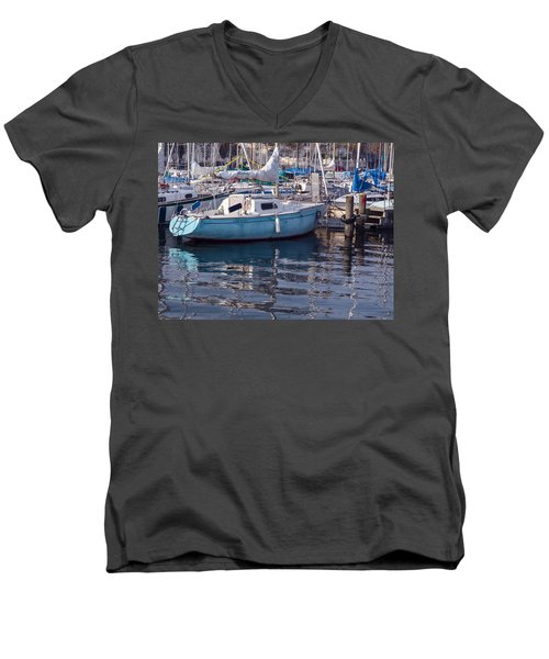 Men's V-Neck T-Shirt featuring the photograph Reflections by Muhie Kanawati