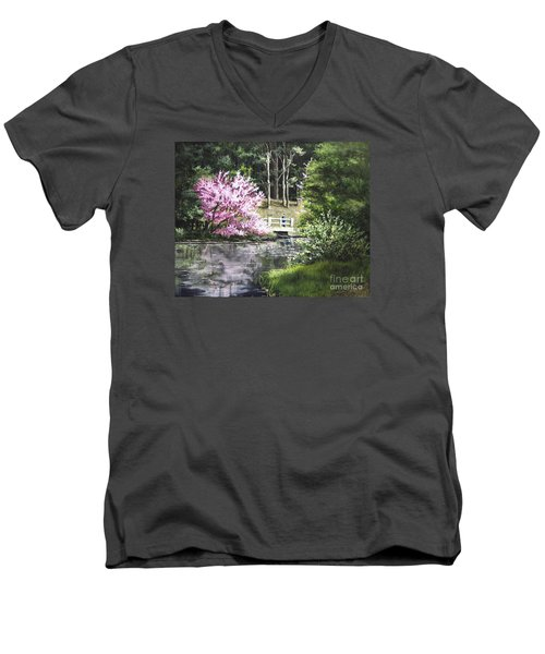 Reflections Of Spring Men's V-Neck T-Shirt
